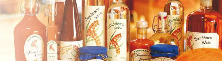 Sanddorn-Produkte von Sandokan